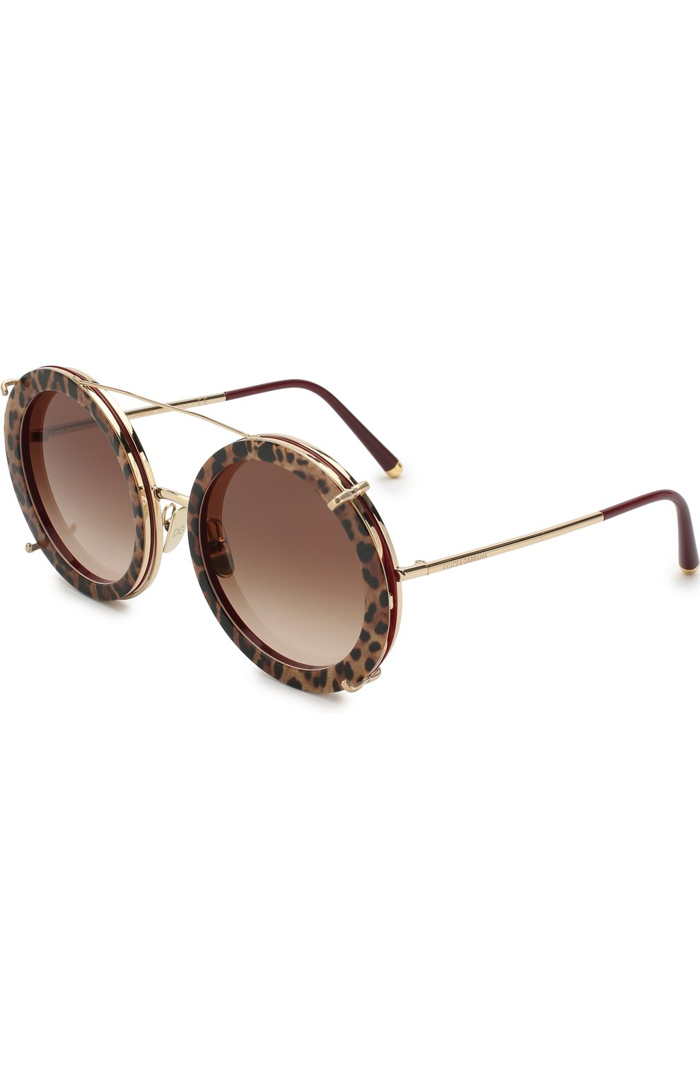 Женские солнцезащитные очки DOLCE & GABBANA леопардового цвета, арт. 2198-131813 | Фото 1