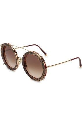 Мужские солнцезащитные очки DOLCE & GABBANA леопардового цвета, арт. 2198-131813 | Фото 1