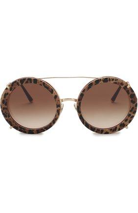 Женские солнцезащитные очки DOLCE & GABBANA леопардового цвета, арт. 2198-131813 | Фото 3