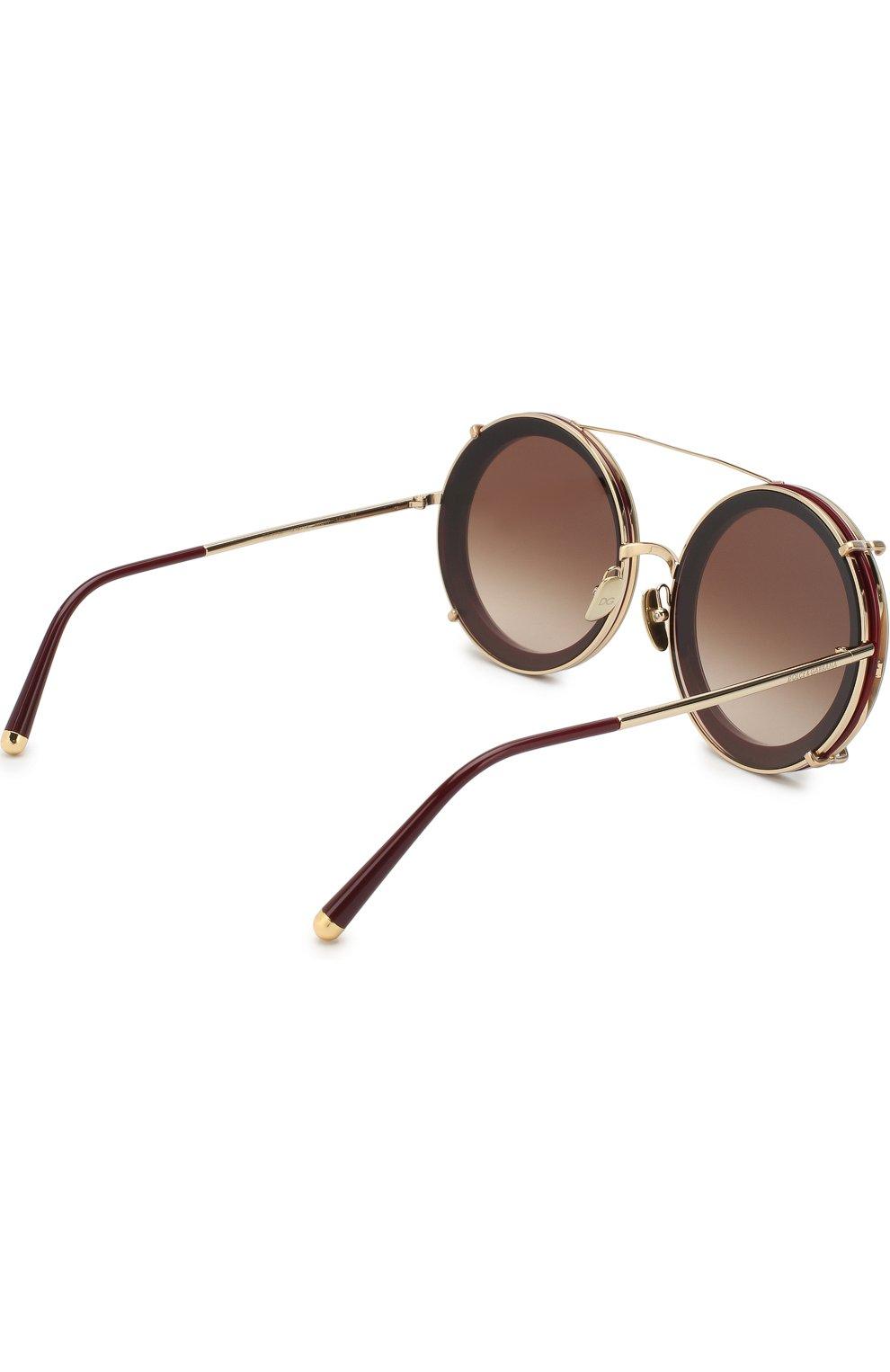 Женские солнцезащитные очки DOLCE & GABBANA леопардового цвета, арт. 2198-131813 | Фото 4