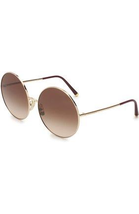 Женские солнцезащитные очки DOLCE & GABBANA леопардового цвета, арт. 2198-131813 | Фото 5