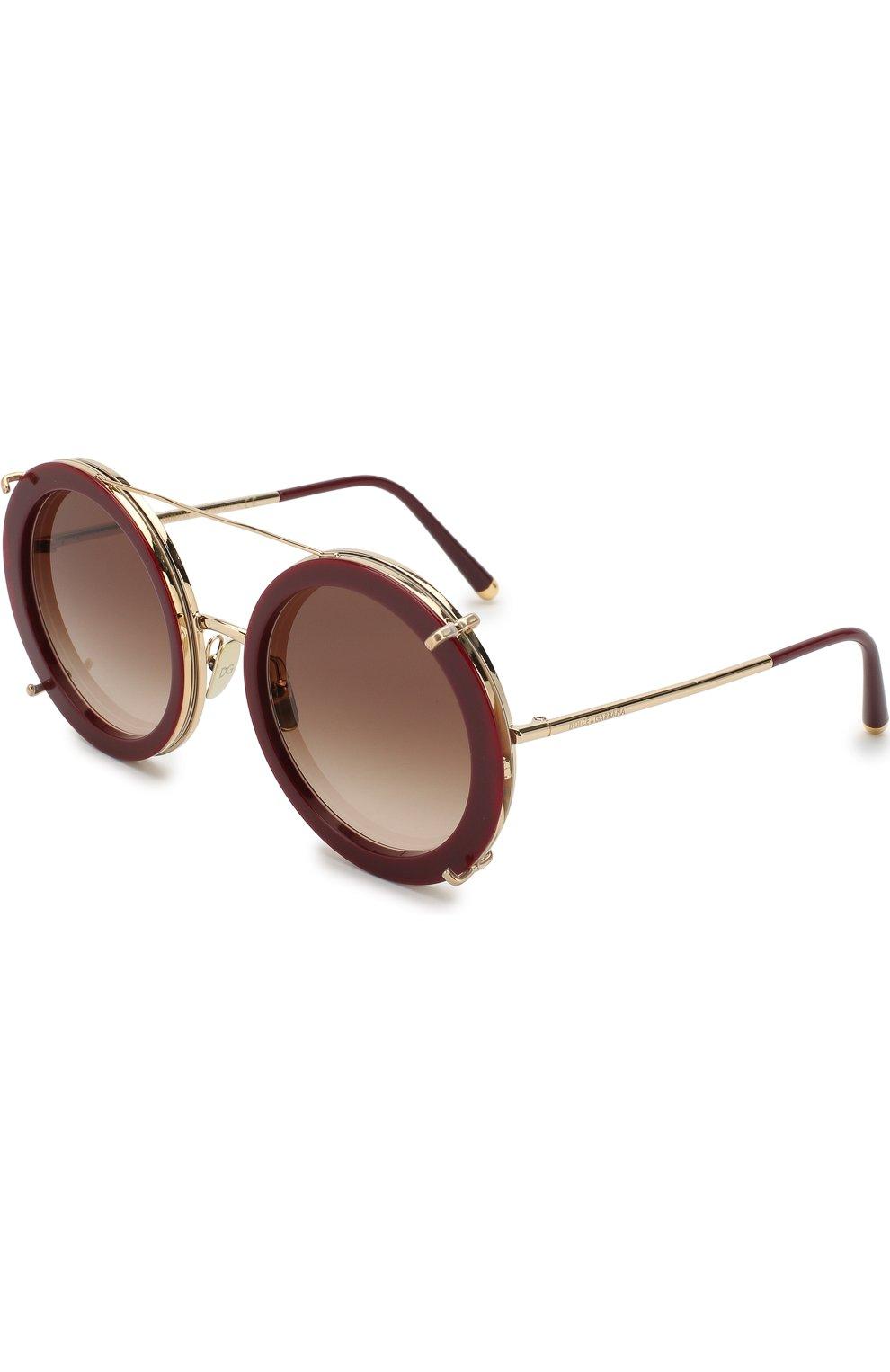 Женские солнцезащитные очки DOLCE & GABBANA леопардового цвета, арт. 2198-131813 | Фото 6
