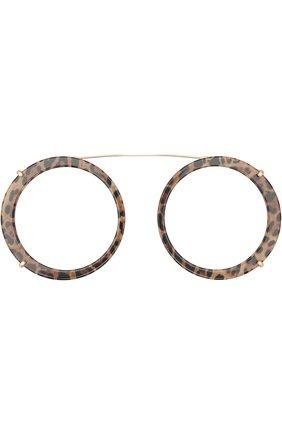 Женские солнцезащитные очки DOLCE & GABBANA леопардового цвета, арт. 2198-131813 | Фото 7