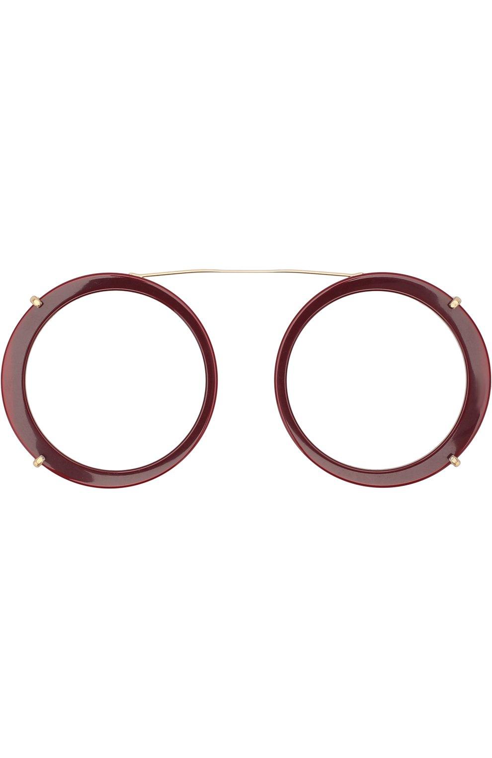 Женские солнцезащитные очки DOLCE & GABBANA леопардового цвета, арт. 2198-131813 | Фото 8