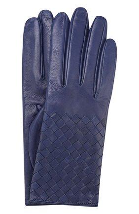 Кожаные перчатки с плетением intrecciato | Фото №1