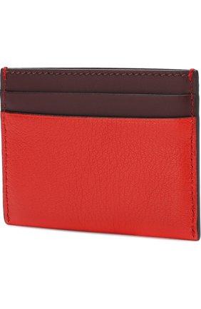 Женский кожаный футляр для кредитных карт BURBERRY красного цвета, арт. 4074983 | Фото 2