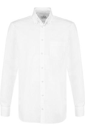 Хлопковая сорочка с воротником button down Van Laack белая | Фото №1