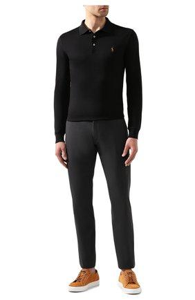 Мужские хлопковые брюки POLO RALPH LAUREN темно-серого цвета, арт. 710644988   Фото 2