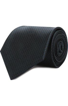 Мужской шелковый галстук с узором BRIONI темно-зеленого цвета, арт. 062I00/0740J | Фото 1