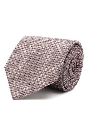 Мужской шелковый галстук с узором BRIONI розового цвета, арт. 061D00/07491 | Фото 1