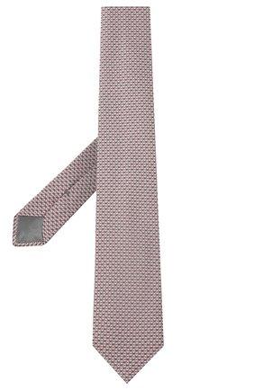 Мужской шелковый галстук с узором BRIONI розового цвета, арт. 061D00/07491 | Фото 2