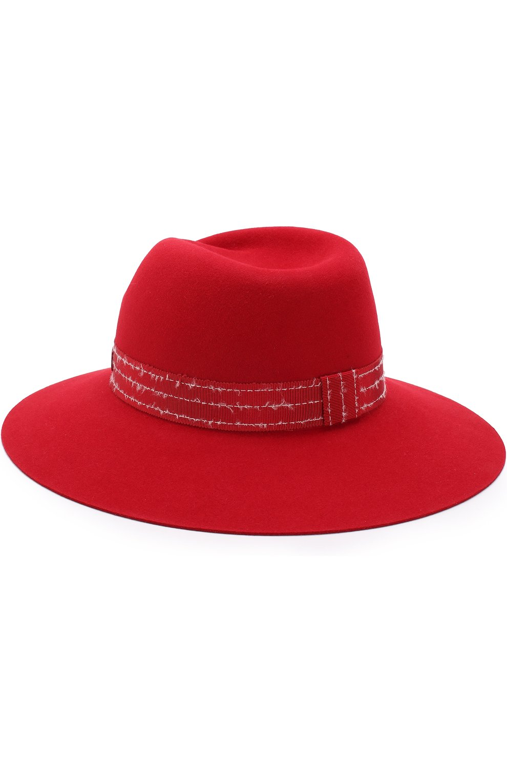Фетровая шляпа Virginie с лентой Maison Michel красного цвета | Фото №2