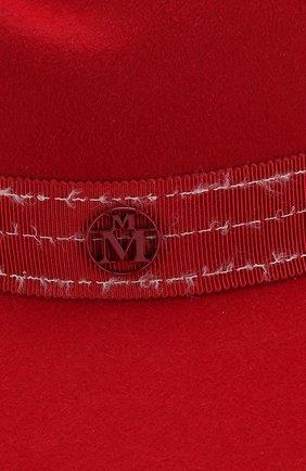 Фетровая шляпа Virginie с лентой Maison Michel красного цвета | Фото №3