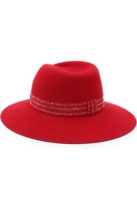 Фетровая шляпа Virginie с лентой Maison Michel красного цвета | Фото №1