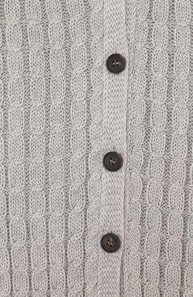 Кардиган фактурной вязки на пуговицах   Фото №3