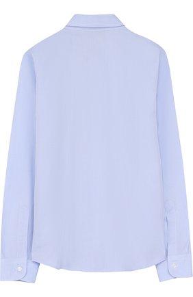 Детская хлопковая рубашка с воротником кент DAL LAGO голубого цвета, арт. N402/7628/7-12 | Фото 2
