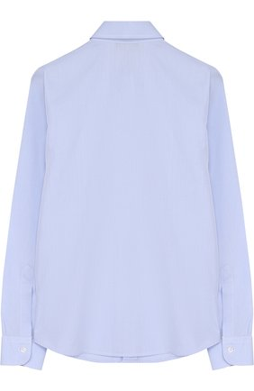Детская хлопковая рубашка с воротником кент DAL LAGO голубого цвета, арт. N402/7628/4-6 | Фото 2