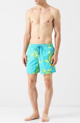 Мужские плавки-шорты с принтом VILEBREQUIN бирюзового цвета, арт. MOO/8006H | Фото 2