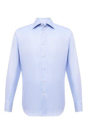 Мужская хлопковая сорочка с воротником кент CANALI голубого цвета, арт. 705/GA00109/S | Фото 1