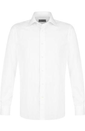 Мужская хлопковая сорочка с воротником кент CANALI белого цвета, арт. X05/GA00107/S | Фото 1