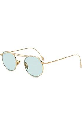 Женские солнцезащитные очки CUTLERANDGROSS бирюзового цвета, арт. 1268GPL/DPLBL | Фото 1