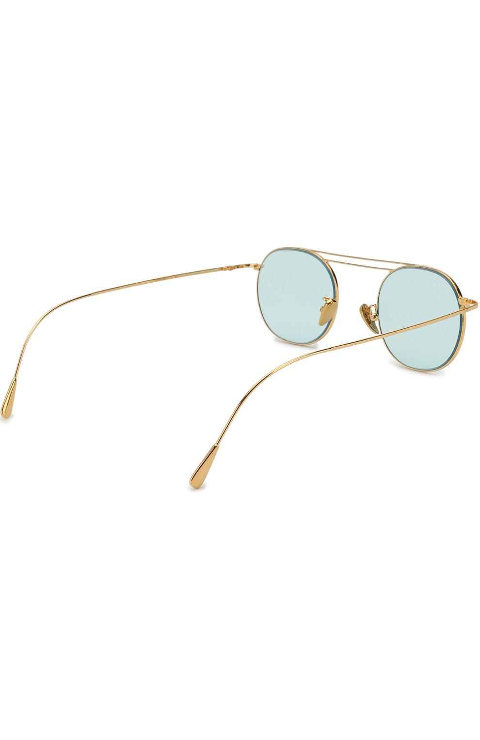Женские солнцезащитные очки CUTLERANDGROSS бирюзового цвета, арт. 1268GPL/DPLBL | Фото 3