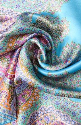 Женский шелковый платок с принтом MICHELE BINDA разноцветного цвета, арт. 19835717 | Фото 2