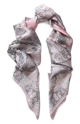 Женский шелковый платок с принтом MICHELE BINDA светло-розового цвета, арт. 19835717 | Фото 1