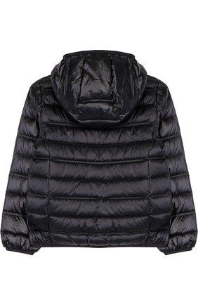 Стеганая куртка на молнии с капюшоном Ea 7 хаки цвета | Фото №1