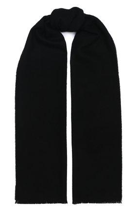 Мужской шерстяной шарф JOHNSTONS OF ELGIN черного цвета, арт. WD000446 | Фото 1 (Материал: Шерсть; Статус проверки: Проверено, Проверена категория; Кросс-КТ: шерсть)
