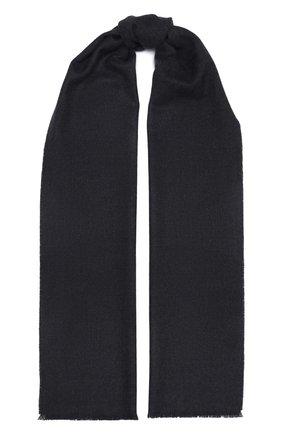Мужской шерстяной шарф JOHNSTONS OF ELGIN темно-серого цвета, арт. WD000446 | Фото 1