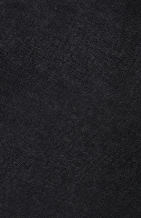 Мужской шерстяной шарф JOHNSTONS OF ELGIN темно-серого цвета, арт. WD000446 | Фото 2