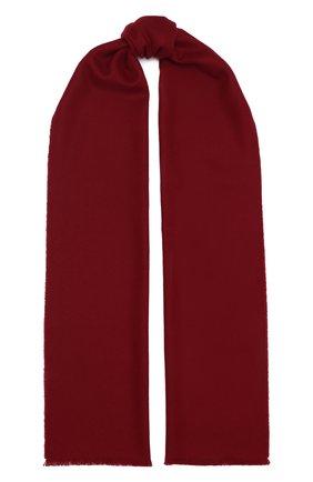 Мужской шерстяной шарф JOHNSTONS OF ELGIN бордового цвета, арт. WD000446 | Фото 1