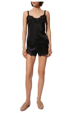Женская топ из смеси шелка и хлопка DOLCE & GABBANA черного цвета, арт. 07A00T/FUAD8 | Фото 2