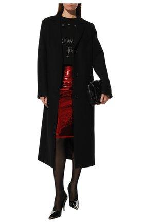 Женская юбка-карандаш с пайетками TOM FORD красного цвета, арт. GCJ226-FAE360 | Фото 2
