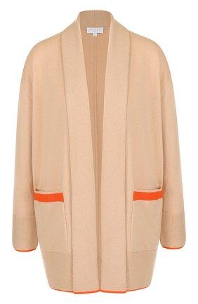 Кардиган из смеси шерсти и кашемира с карманами Escada Sport оранжевый | Фото №1