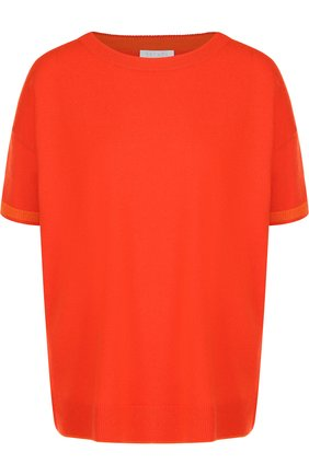 Пуловер с круглым вырезом из смеси шерсти и кашемира Escada Sport оранжевый | Фото №1