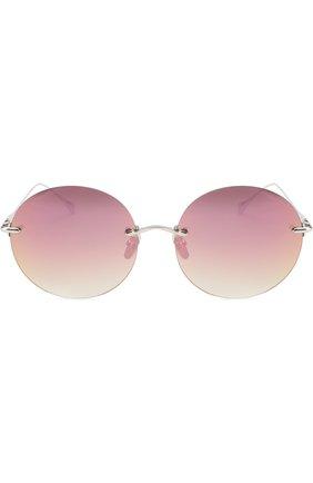 Женские солнцезащитные очки FRENCY&MERCURY темно-розового цвета, арт. NEVER KN0W NEXT KISS/SS-LPM | Фото 2