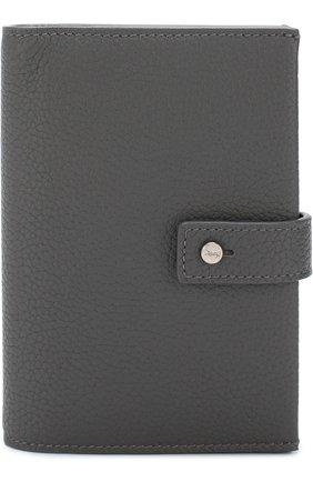 Женские кожаное портмоне с футляром для кредитных карт SAINT LAURENT темно-серого цвета, арт. 505011/DTI0E   Фото 2