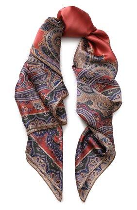 Женский шелковый платок с принтом MICHELE BINDA разноцветного цвета, арт. 20036452 | Фото 1