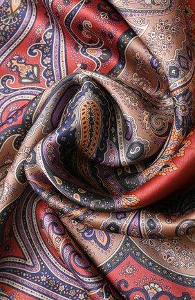 Женский шелковый платок с принтом MICHELE BINDA разноцветного цвета, арт. 20036452 | Фото 2