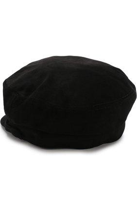 Замшевое кепи Maison Michel черного цвета | Фото №1