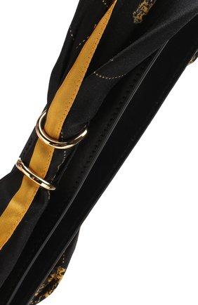 Женские кожаный ремень для сумки scarf strap CHLOÉ темно-синего цвета, арт. CHC18AD802A36 | Фото 2