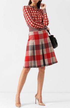 Женская кожаные туфли romy 110  JIMMY CHOO розового цвета, арт. R0MY 110/KID | Фото 2