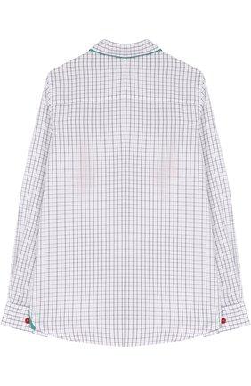 Детская блуза прямого кроя Mumofsix разноцветного цвета | Фото №1