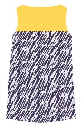 Детское мини-платье свободного кроя Mumofsix разноцветного цвета | Фото №1
