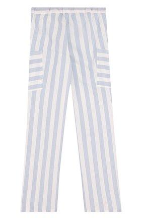 Детские брюки прямого кроя с накладными карманами Mumofsix голубого цвета | Фото №1