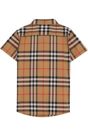 Детский хлопковая рубашка с принтом BURBERRY разноцветного цвета, арт. 8002639 | Фото 2