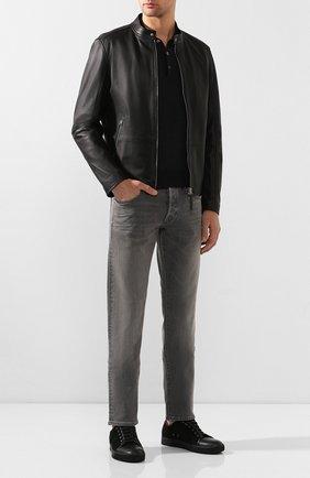 Мужское поло из смеси шерсти и кашемира с шелком BRIONI темно-серого цвета, арт. UMR30X/0ZK16 | Фото 2