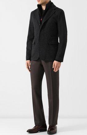 Мужские классические кожаные дерби GIORGIO ARMANI коричневого цвета, арт. X2C536/XAT29 | Фото 2
